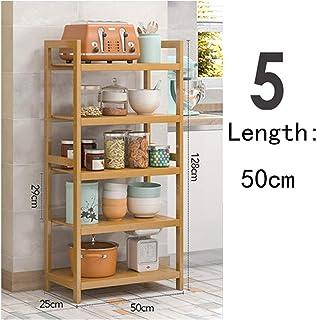 KOKOF Étagères de cuisine, comptoirs, plancher de bambou, étagères de rangement multicouches, étagères d'assaisonnement, é...