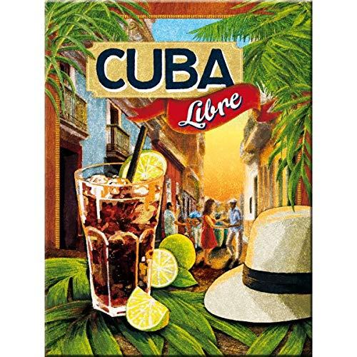 Nostalgic-Art 14309 Cerveza o Cierre magnético diseño de Monstruo Comiendo Cuba Libre 8 x 6 cm