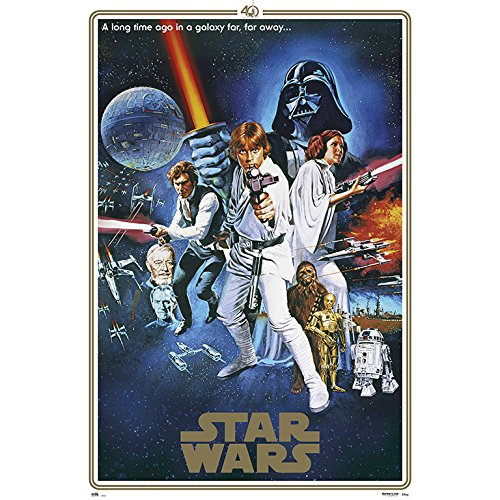 Grupo Erik - Póster Star Wars 40 Aniversario One Sheet B,