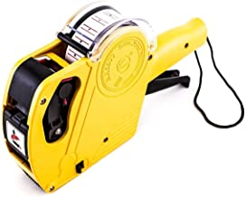 Labeling Machine Plastic Price Labeller 1 Line 8 Digits with Label Cover, Handheld Sticker Label Pricing Gun, Date Price Labeler 5500EOS Tag Marker (Yellow)
