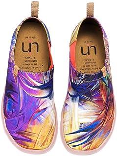 UIN Arte de Sueño Púrpura Imprimio Zapatos de Lona para Mujer,Mocasínes Cómodos de Las Señoras, Casual Planos Loafers, Adecuado para Todas Las Estaciones