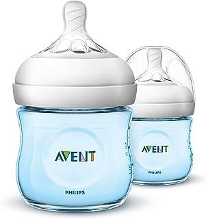 Philips Avent Natural Baby Bottles, 125ml, Blue, 2-Pack, SCF032/27