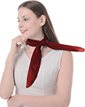 "Sheer Chiffon Scarf Square Neck Head Scarf 50s Scarf for Fashion Women Mens Children (26""x26"")"