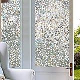 Película para Ventanas de Vidrio Transparente 3D, Adhesivo de Vidrio Autoadhesivo con Efecto arcoíris, Adecuado para baño, Estudio, balcón N 30x100cm