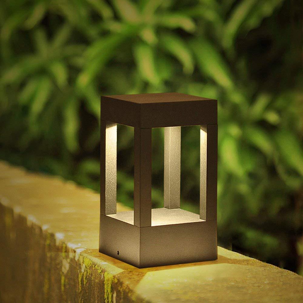 10W LED lámpara ahorro de energía Path | Baliza | lámpara de vía | Pedestal de luz del jardín luz | luz al aire libre | Fundición de aluminio | luz al aire libre: Amazon.es: Iluminación