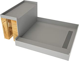 Tile Redi USA - Base'N Bench WF4848R-RB48-KIT  Tileable Shower Pan & Seat - Flashing & Epoxy Included 60 Inches x 48 Inches Tileable