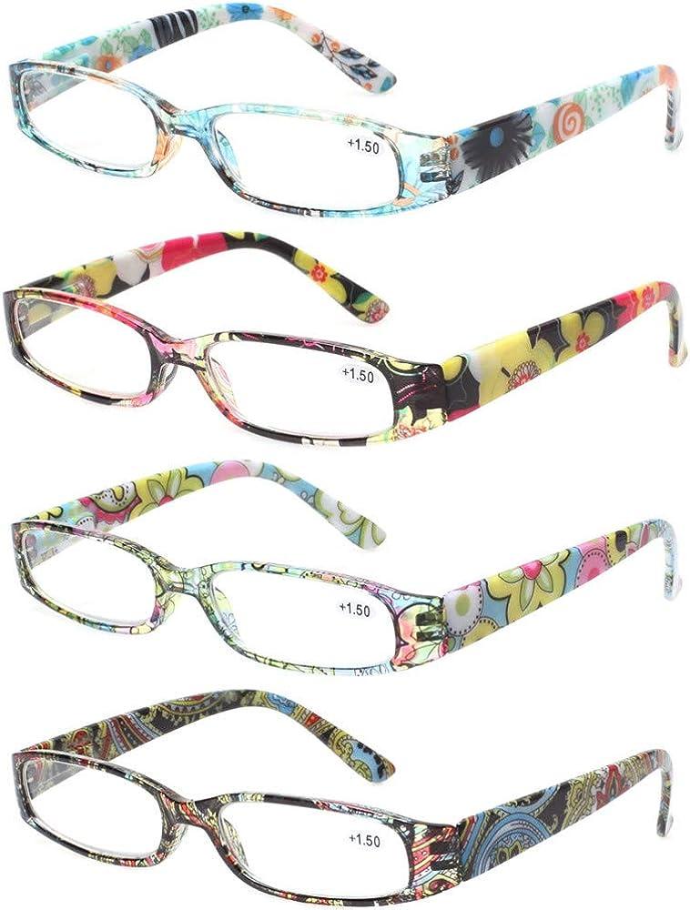 Kerecsen lowest price Women's Super intense SALE Reading Glasses 4 Pairs Fashion H Spring Ladies