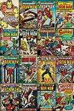 Pyramid America Iron Man Comic Book Covers Collage Art Cool Wall Decor Art Print Poster 24x36