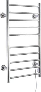 HomCom 10-Bar Stainless Steel Wall Mounted Electric Heated Towel Warmer Rack