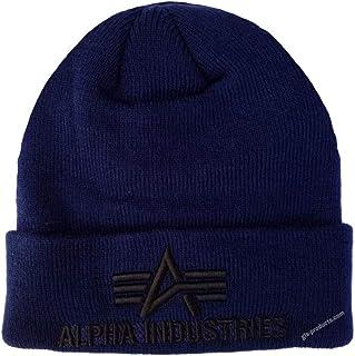 Alpha Industries Gorro de invierno 3D de doble tejido acrílico, muy suave, cálido y con un diseño bordado 3D.