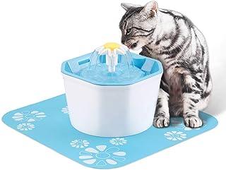 Hensych Automatisk katt hund vatten fontän elektrisk husdjur drickskål dispenser,1,6 l åttkantig form med supertyst pump, ...