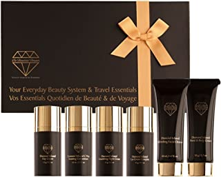 Forever Flawless Everyday Beauty System and Travel Essentials Facial Kit Everday Beauty Regime Diamond Infused Skincare Healthy Skin BF1