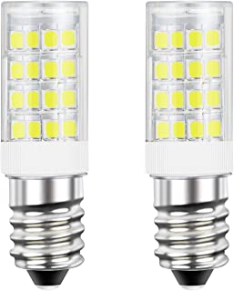 DiCUNO E14 LED Light Bulb 4W 40W Halogen Bulb Equivalent 220V Daylight White 6000K 400 Lumen Non-dimmable 2-Pack