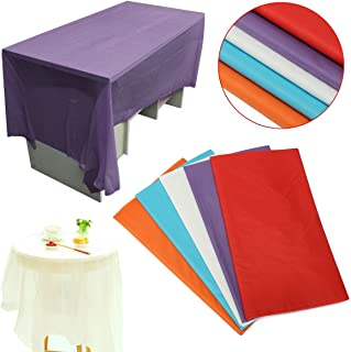 Bazaar 270x135cm Pure Color Waterproof Plastic Rectangular Table Covers Cloth For Wedding Party Decor