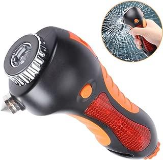 EFORCAR Car Safety Hammer, 6 in 1 Emergency Escape Tool with Automotive Hammer, Window Breaker, LED Flashlight, Whistle, Seatbelt Cutter & Magnet Warning Light