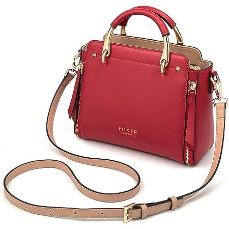 Cowhide Leather Designer Handbag for Women Shoulder Bag for Ladies Crossbody Bag Women's Top Handle Purse Black and Red