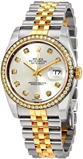 Oyster Perpetual Datejust 36 Silver Dial Stainless Steel and 18K Yellow Gold Rolex Jubilee Automatic Ladies Watch 116243SDJ