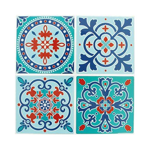 Artemio 22002027 Set de 4 Stickers Mosaïque, Résine Époxy, Multicolore, 26,5 x 0,2 x 31 cm