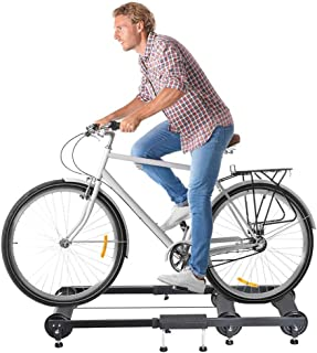 B/A Sanycool Foldable Bike Trainer Stand Indoor Portable Exercise Bike Folding Roller Frame Cycling Bicycle Roller with Re...