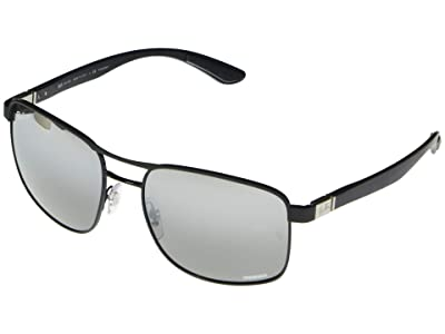 Ray-Ban RB3660CH Square Metal Sunglasses 58 mm Polarized