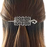 Viking Celtic Hair Clips Hairpin-Viking Hair Sticks Ladies Hair Accessories Triangle Clips for Long Hair Slide Pin Irish Antique Silver Hairstick Celtic Knot Viking Jewelry Hair Clip Men Gift (N-E1)