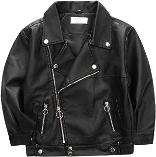 LJYH Faux Leather Jacket for Children Motorcycle Jacket for Boys Spring Jacket for Girls