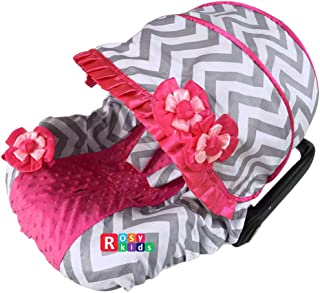 Rosy Kids Infant Carseat Canopy Cover 3pc Whole Caboodle, Baby Car Seat Cover Outdoor Kit, Color03NR08