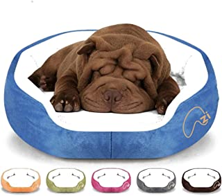Azi pet beds 45 * 40 * 11 cm Soft Warm pet Bed- Suitable for All pet Types- Comfortable Bed with PP Cotton Filler. (Pink)