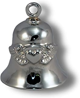 Angel Wings w/Heart, Chrome Plated Brass Ride Bell #CB26