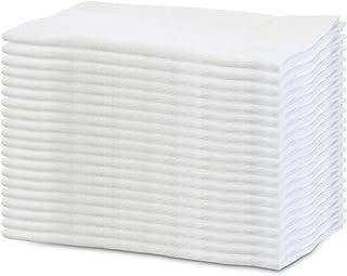 【洗い替え便利な 業務用】軽くて 使いやすい 白い フェイスタオル 20枚組 200匁(34×84㎝)