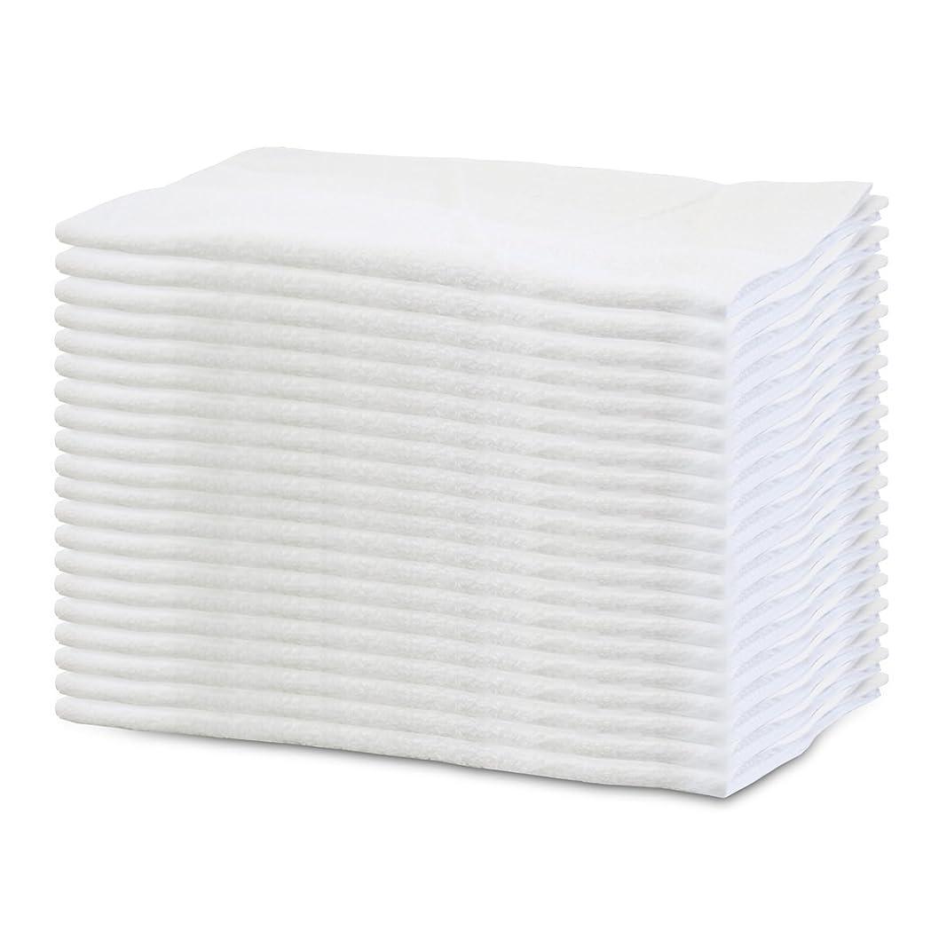 まだサークル小売【軽くて乾きやすい業務用】白いフェイスタオル 24枚組 160匁(34×84cm)
