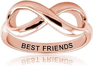 West Coast Jewelry Sterling Silver Best Friends Infinity Ring
