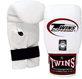Twins Special Muay Thai Training Bag Gloves TBGL 1F Full Thumb and TBGL 1H Half Thumb Size: Meduim Large Color Black Blue ...