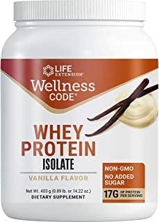 Life Extension Wellness Code Whey Protein Isolate, Vanilla, 403 Gram