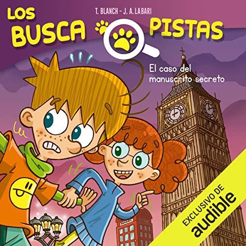 Diseño de la portada del título Buscapistas: El Caso Del Manuscrito Secreto (Narración en Castellano)