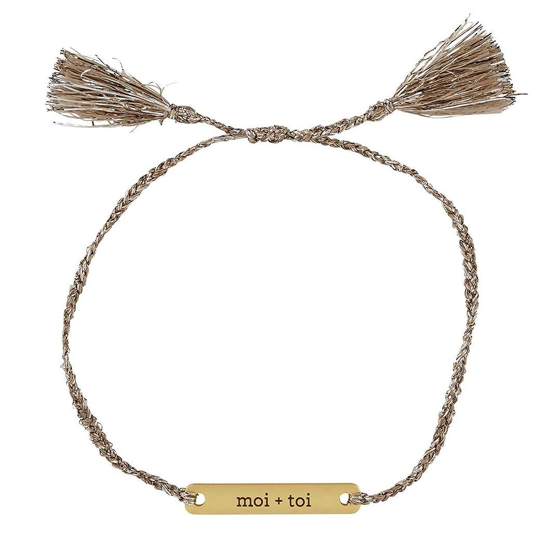 SB Design Studio F2797 Wedding Collection Love Notes Pewter Thread Bracelet, Moi + TOI