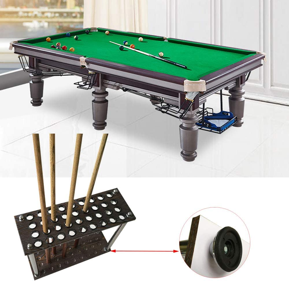 DURABLE POOL// SNOOKER CUE RACK HOLDS 6 CUES BILLIARD RODS HOLDER STAND BLACK