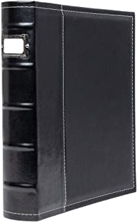 Bellagio-Italia 3 Ring Binder - 1 Inch Ring Stores up to 250 Pages - Classy Faux Leather Binder for Presentations, File St...