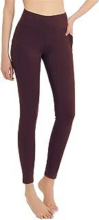 Jimilaka Women's Thermal Fleece Lined Leggings Winter Yoga High Waisted Pocketed Workout Pants
