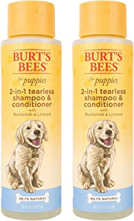 Burt's Bees for Dogs Natural Tearless 2 In 1 Dog Shampoo & Conditioner with Buttermilk and Linseed Oil   Gentle & Safe for...