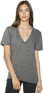 American Apparel TR456W Unisex Tri-Blend S/S Deep V-Neck T-Shirt