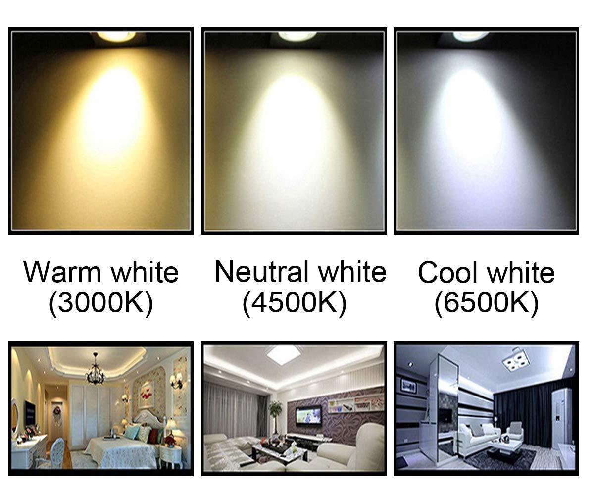 Luz de techo LED, 1600LM, luz Blanco frío, con sensor PIR ...