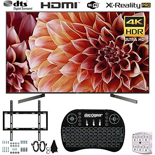 Sony XBR65X900F 65-Inch 4K Ultra HD Smart LED TV (2018) + Wireless Keyboard + Wall Mount Bundle