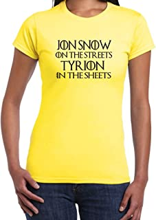StarliteFunnyTShirts Womens Funny Sayings T Shirts Waiting for Jon Snow