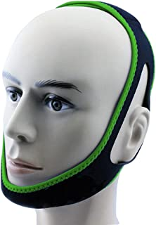 Anti Snore Chin Strap by NONPAREIL - Quieter Nights for Mouth Breathers and Their Companions, Lucky Green (X-Long 30
