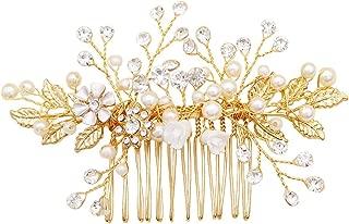 Best gold hair comb wedding Reviews