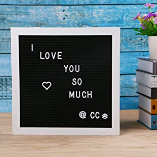 Eagle Letter Board, Message Board, Changeable Word Board, Letter Sign, 12×12-Inches, Includes 174 White Plastic Letters, Black