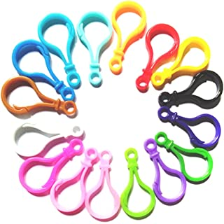HUELE 100PCS Mixed Plastic Clasps Hook Bulb Buckle Clips Dummy Toy Jewelry Making Finding Backpack Webbing Accessories