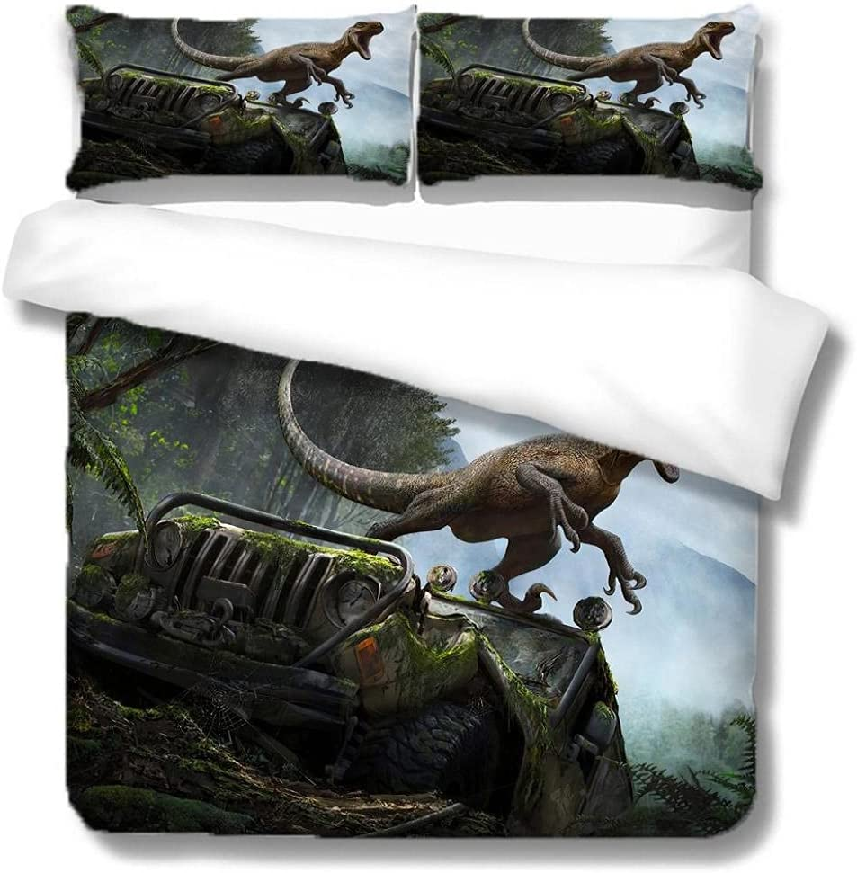 WDMXNZ Bedding for Girls Boys Cute fo Green Set Tulsa Mall Dinosaur low-pricing Quilt