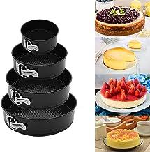Springform Round Cake Pan Set Release Latch/Removable Bottom Premium Detachable Bakeware Cheesecake Pans  Non-Stick/Scratc...